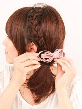 入学式 女の子の髪型4