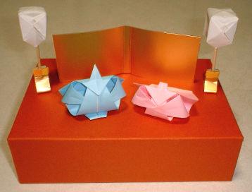 お雛様の折り紙2