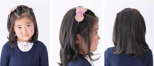 入学式 女の子の髪型3