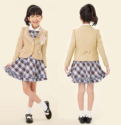 入学式 女の子の子供服3