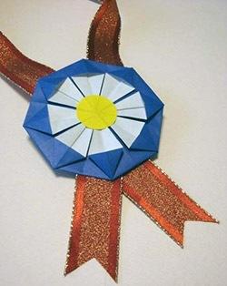 幼稚園で使える 運動会のメダル折り紙