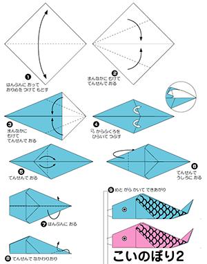 折り紙 鯉のぼりの折り方2