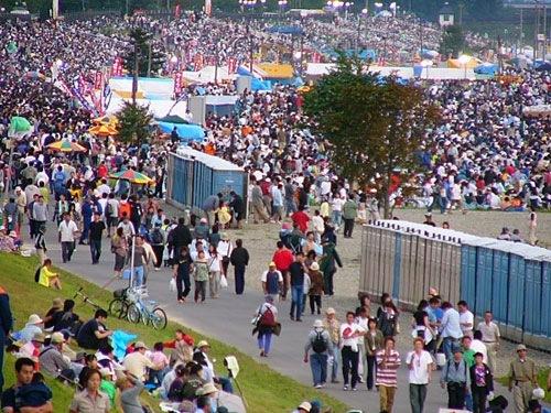 大曲花火大会の混雑状況