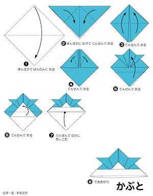 折り紙 かぶとの折り方1