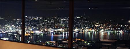 稲佐山観光ホテルからの夜景