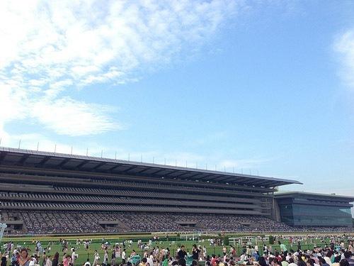 東京競馬場花火大会の日は子供ずれのご家族がたくさん