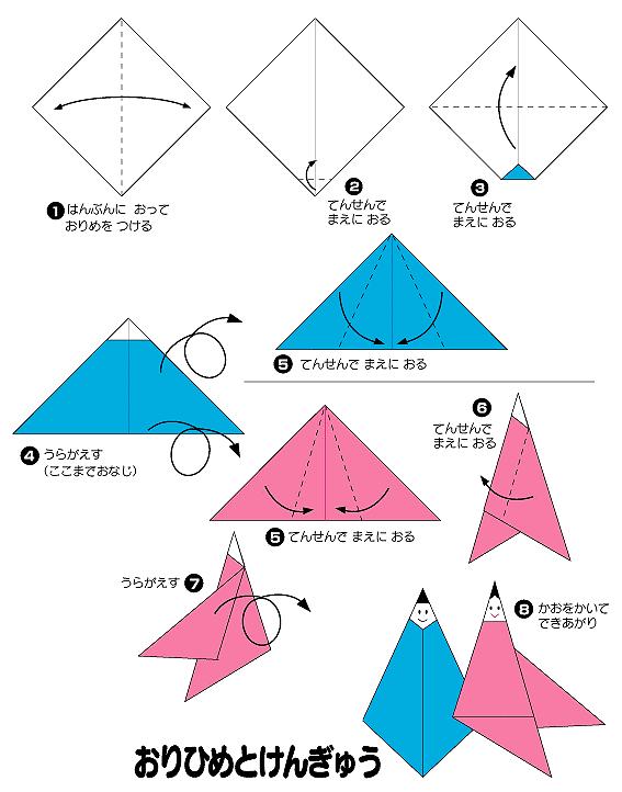 ハート 折り紙:七夕折り紙 織姫-trend.reviewtide.com