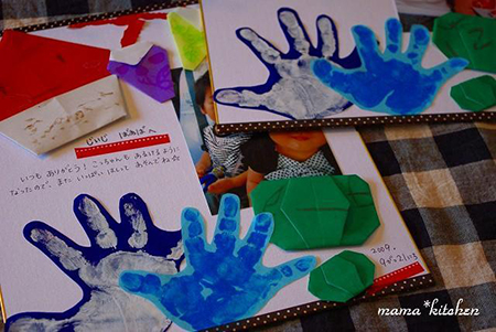 折り紙や手形スタンプで手作りカード