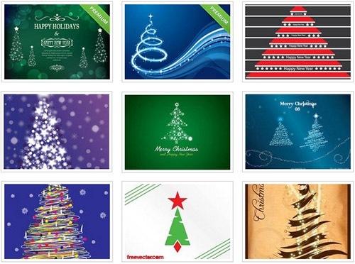 クリスマスのお洒落な無料イラスト 画像13