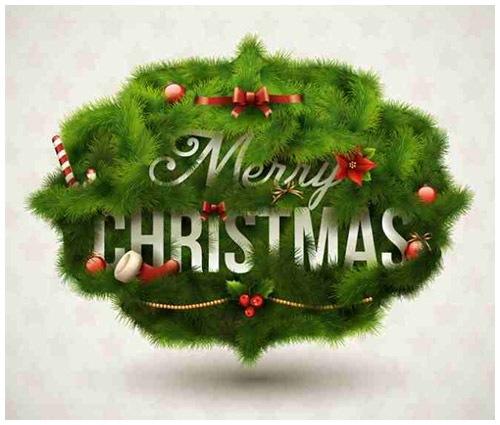 クリスマスのお洒落な無料イラスト 画像16