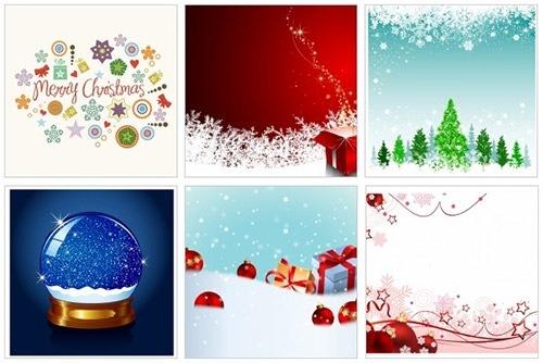 クリスマスのお洒落な無料イラスト 画像03