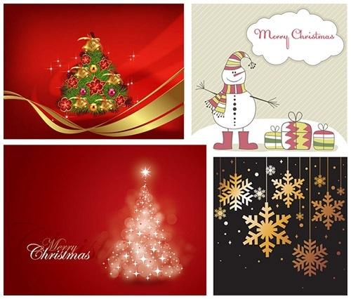 クリスマスのお洒落な無料イラスト 画像05
