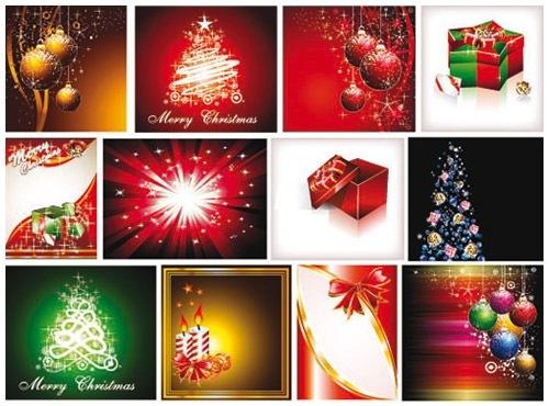 クリスマスのお洒落な無料イラスト 画像07