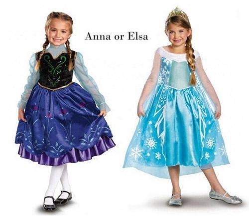 人気はアナとエルサのキッズ仮装