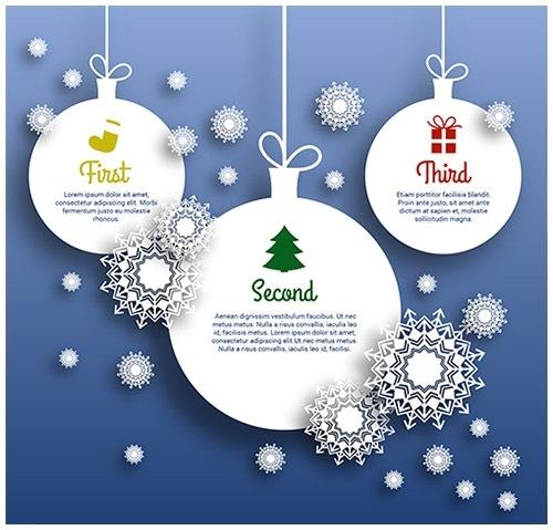クリスマスのお洒落な無料イラスト 画像12