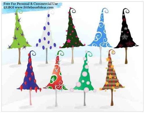 クリスマスのお洒落な無料イラスト 画像15
