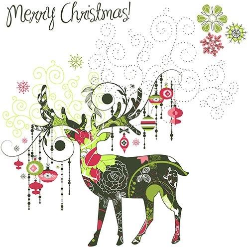 クリスマスのお洒落な無料イラスト 画像08