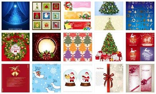 クリスマスのお洒落な無料イラスト 画像09