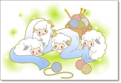 夢夢色TOENのかわいい羊のイラスト無料テンプレート