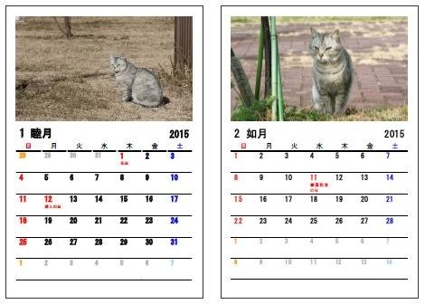 カレンダーBANK 猫の写真フレーム