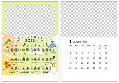 ... 写真フレームカレンダー