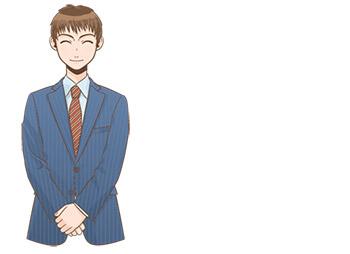 リクルートスーツの男子