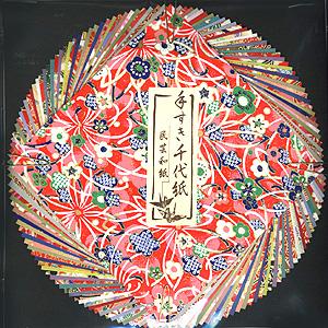 和風柄の折り紙
