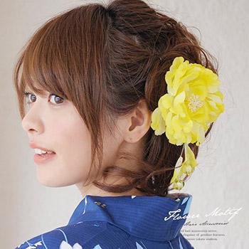 やっぱり髪飾りの定番と言ったら、花飾り!