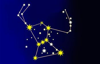 オリオン座を構成する主な星は八つあります
