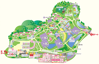 あしかがフラワーパークのマップ