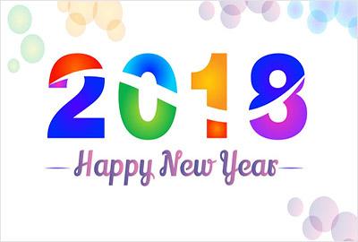 海外の壁紙 New Year 2018