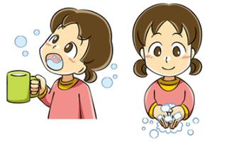 手洗いうがいは風邪予防にとても有効な習慣です。