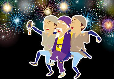 イベントは花火大会 、神輿渡御 、水戸黄門パレードなど