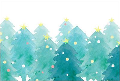 手描き風タッチで描かれた、サンタクロースやトナカイ