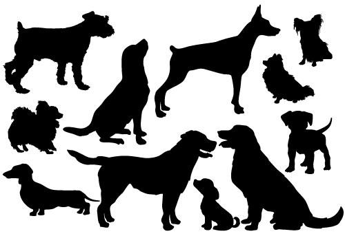 フリーベクター犬のイラスト