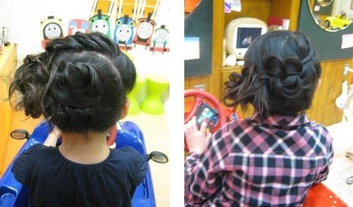 入学式 女の子の髪型1