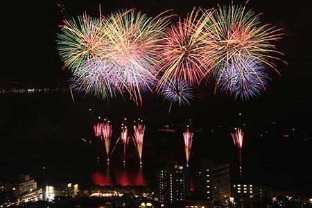 立石公園から観た花火