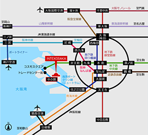 バリヤフリー2016大阪 アクセスマップ地図