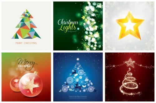クリスマスのお洒落な無料イラスト 画像01