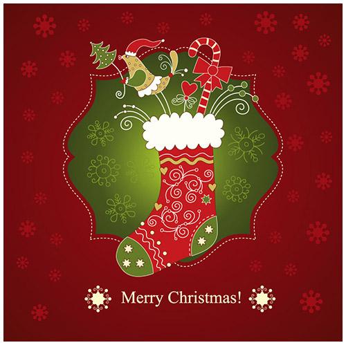 クリスマスのお洒落な無料イラスト 画像10