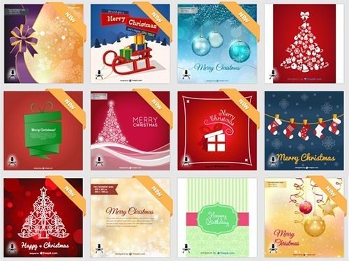 クリスマスのお洒落な無料イラスト 画像11