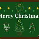 クリスマス イラスト 白黒 モノクロ 全部無料だよ
