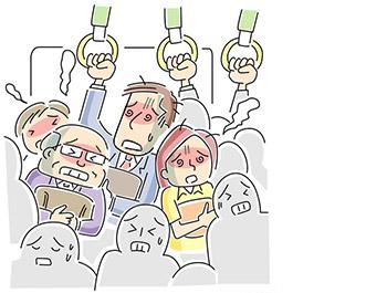 浅草駅を出発した電車の地獄絵図