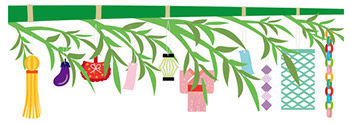 笹の葉に願い事を書いた短冊を飾ると織姫と彦星の力で叶えてくれる