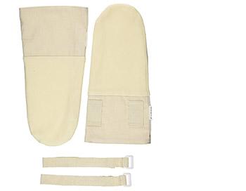 寝る時はアトピー用などの手を保護する手袋