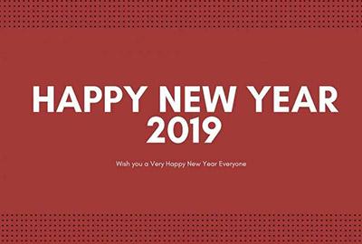 海外の壁紙 New Year 2019