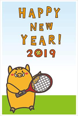 可愛い猪とテニス