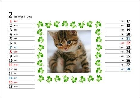 かわいい写真フレームカレンダーの出来上がり