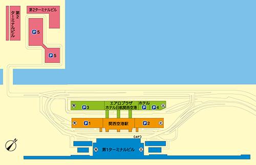 関空での国際線は、一部を除き第1ターミナルが使用されます。