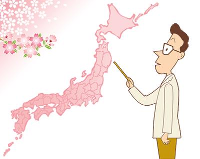 桜前線とは…